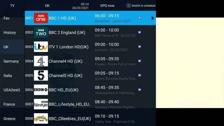 AirTV IPTV Record